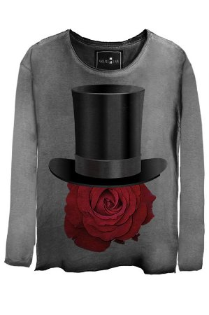 Camiseta  Estonada Gola Canoa Manga Longa Rose Hat