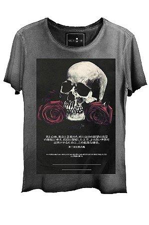 Camiseta  Estonada Gola Canoa Corte a Fio Skull Wars