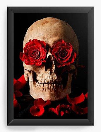 67679dc15fa5 Quadro Decorativo Skull Roses ✓Confira os lançamentos - Camisetas ...