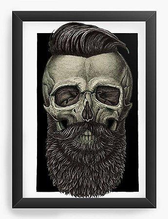 Quadro Decorativo Skull Barber
