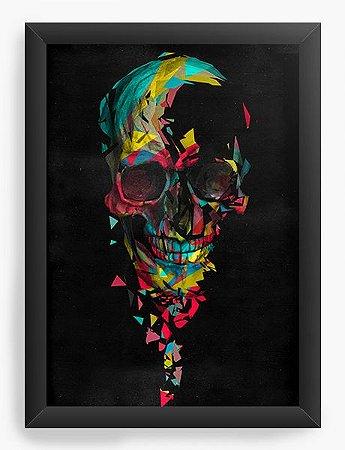 Quadro Decorativo Skull Colors