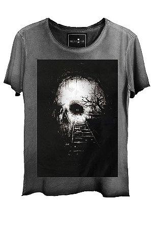 Camiseta Estonada Gola Canoa Corte a Fio Destiny