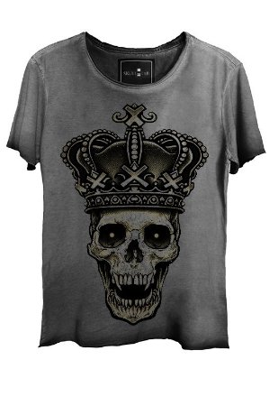 Camiseta Estonada Gola Canoa Corte a Fio Rei