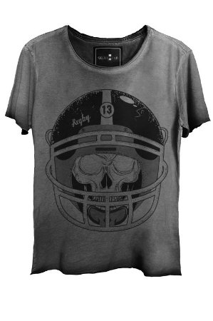 Camiseta Estonada Gola Canoa Corte a Fio Skull  Soccer