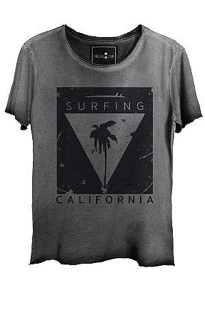 Camiseta Estonada Gola Canoa Corte a Fio Surfing