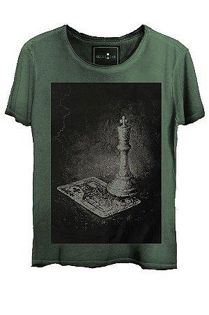 Camiseta  Estonada Gola Canoa Skull Lab King