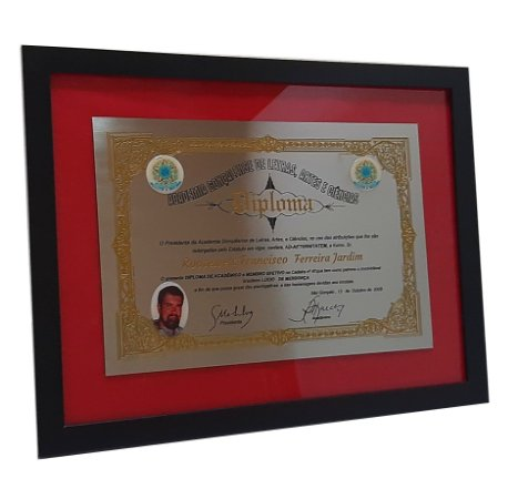 Diploma em Aço Inox - Com Fotos Resinadas