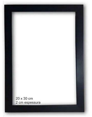 Moldura Madeira com Vidro 20 x 30 cm (para quadros)