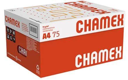 Papel Chamex Office A4 75gramas 210mmx297mm caixa com 10 resmas de 500 folhas cada