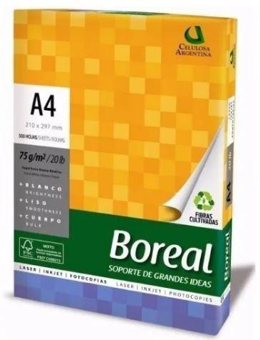 Papel sulfite Boreal 75gramas -  branco - caixa com 10 unidades de 500 folhas