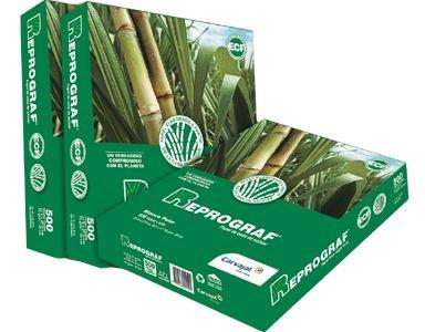 Papel Sulfite CARTA - Extra Branco 75grs Reprograf - 100% de Bagaço de Cana de Açúcar, Cx c/10 Pcts de 500 Folhas