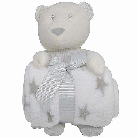 Urso De Pelúcia Com Manta Para Bebê