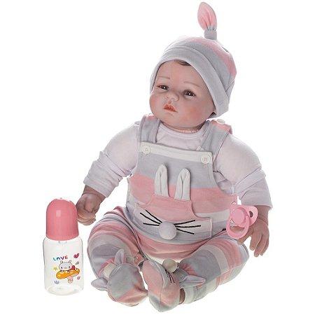 Boneca Bebe Reborn Laura Baby Dora