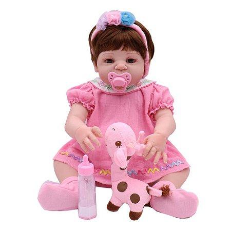 Boneca Bebe Reborn Laura Baby Vitoria