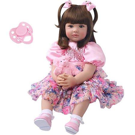 Boneca Bebe Reborn Laura Baby Duda