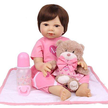 Boneca Bebe Reborn Laura Baby Flavia