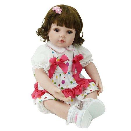 Boneca Bebe Reborn Laura Baby Isis 48cm corpo de algodão