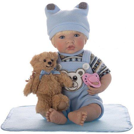 Boneca Bebe Reborn Laura Baby Enzo menino corpo algodão