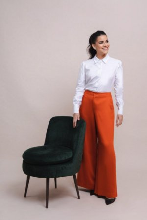 Camisa Feminina Regular Fit Tricoline Branca