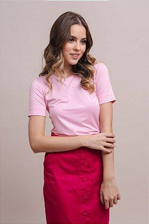 T-Shirt Feminina Gola Careca Modal  - Tutti Frutti