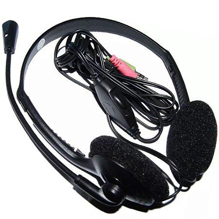 Fone de Ouvido Multilaser Potente 100mw Headset stereo com Fio 32 Ohms Preto