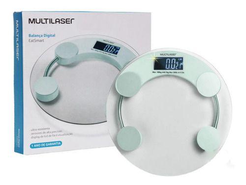 Balança Digital de vidro Eatsmart HC039 Até 180kg Moderna Lcd