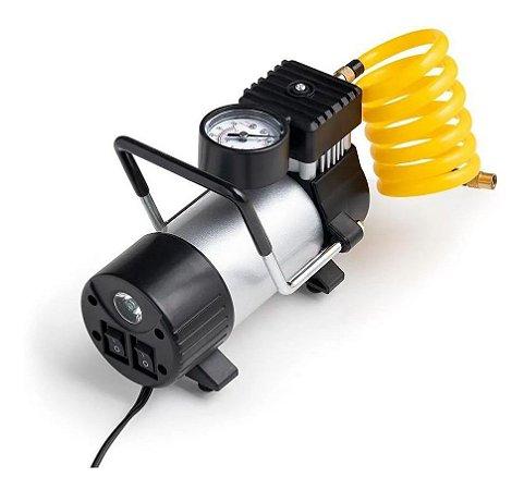 Compressor De Ar Para Carros Leves Suvs Bicicletas Motos Metalico 12v Vazão 20L/Min PREMIUM com 200PSI