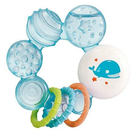 Mordedor Com Água Para Bebê Multikids Azul Menino Infantil