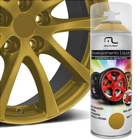 Envelopamento Liquido Dourado 400ml Emborrachada Platico Metal Madeira Aro