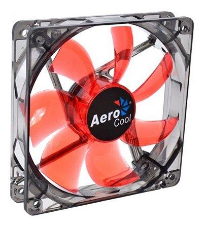 Cooler Fan 12cm Red Led Vermelho Aerocool Para Computador