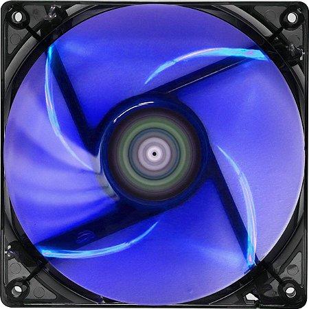 Cooler Fan 12cm Blue com Led Azul Aerocool Para Computador