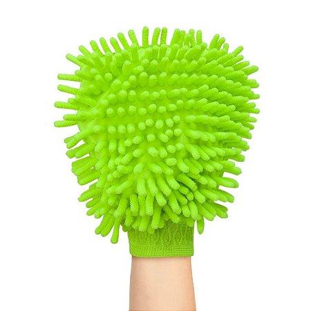 Luva De Microfibra Dupla Face Pra Lavar E Polir Carros Moveis Multiuso 100% Poliester