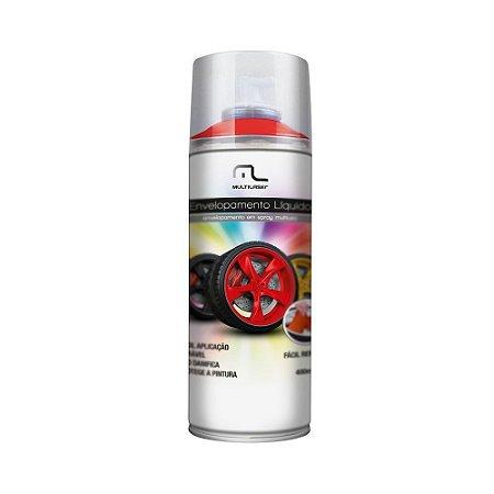 Envelopamento Liquido Vermelho Fluorescente 400ml Emborrachada Platico Metal Madeira Aro