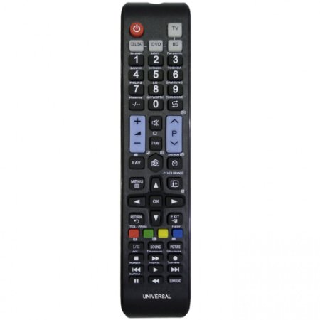 CONTROLE PARA TV UNIVERSAL Petro Comprido Funciona A Pilha