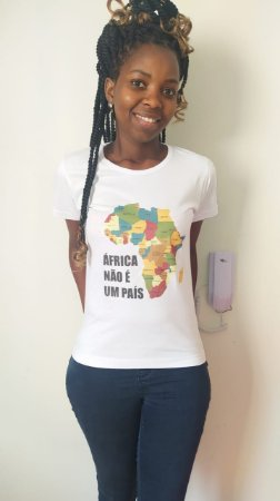 Camiseta Babylook - Mapa Colorido - 100%Poliéster