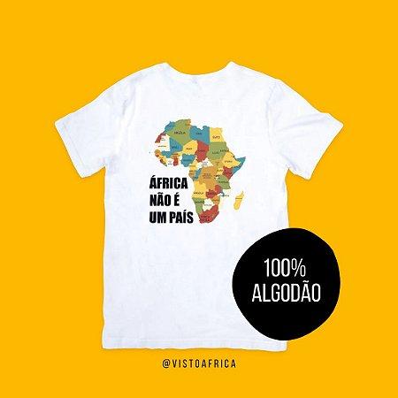 Camisetas Mapa Colorido - Idiomas (em Algodão)