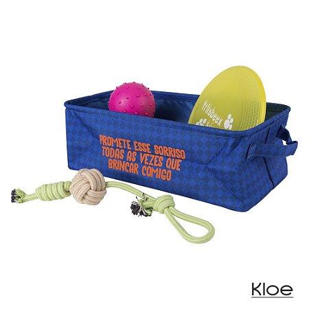 Organizador de Brinquedos Azul Kloe