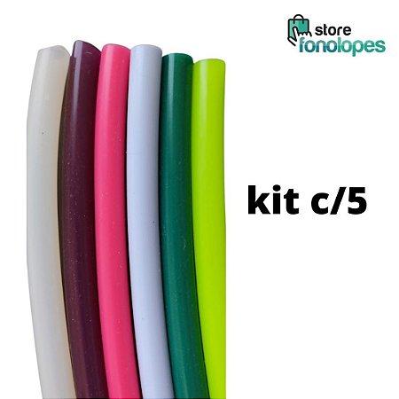KIT C/5 - TUBO DE RESSONÂNCIA  para ETVSO Silicone - Cores Variadas / Lax Vox