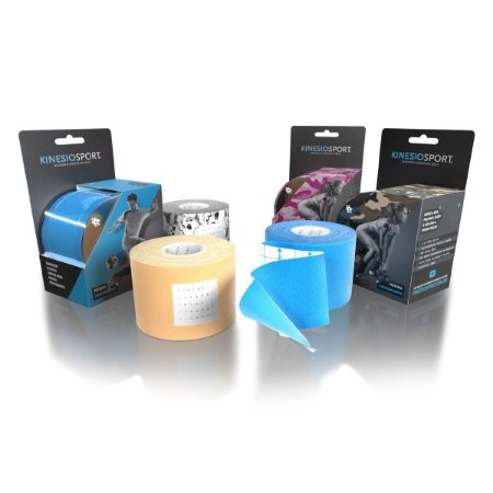 Bandagem Elástica Adesiva Kinesio Sport KS-003, 5.0cm x 5m - Varias Cores