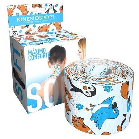 Bandagem Elástica Adesiva Kinesio  Soft KSS-002, 5cm x 5m, BICHINHOS