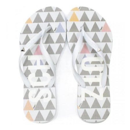 Chinelo Schutz Flip Flop Triangle Branco