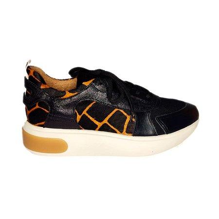 Tênis Sneaker Preto Onça Smidt