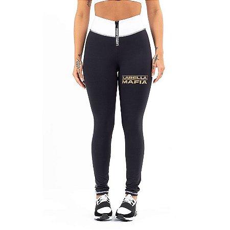 Legging Black and Gold Preto Labellamafia 23532