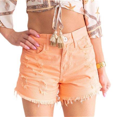 Shorts Feminino Dicollani Laranja 34