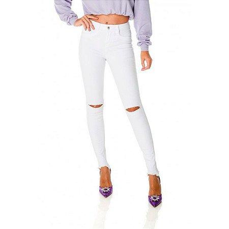 Calça Jeans Skinny Média DZ Branco