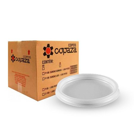 Tampa para Pote 300-400-500ml   Copaza   Pacote com 50 Unidades