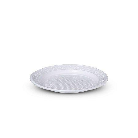 Prato Plástico Descartável | 18cm | Branco | 10 Unidades