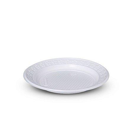 Prato Plástico Descartável | 25cm | Branco | 10 Unidades