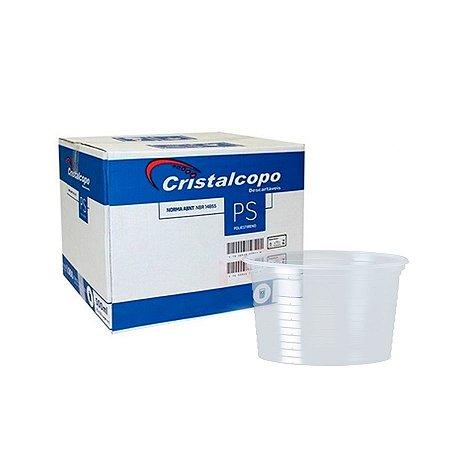Pote Plástico 250ml | Cristalcopo | Caixa com 1000 Unidades