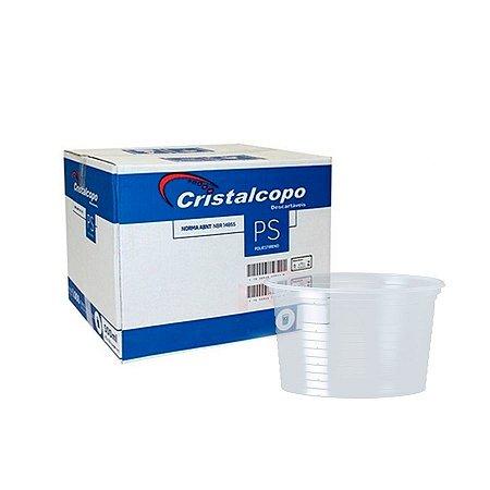 Pote Plástico 250ml | Cristalcopo | Pacote com 50 Unidades
